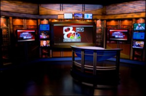 KOMU TV-8 Newsroom Set