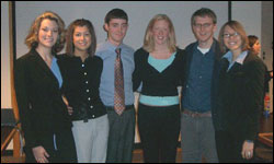 Jayne Bringer, Jessica Wiese, Will Hall, Alexis Worley, Greg Shadwick and Rachel Barone