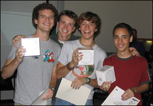 Mark Buhrmester, Mike Hall, Scott Parsons and Michael Chesney