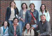 Front Row:Jessi Meredith, Elizabeth Holbrook, Rachael Bax, Craig Ligibel. Back Row:Dana Strueby, Meghan Seawell, Savannah Waszczuk, Jamie Sheridan.