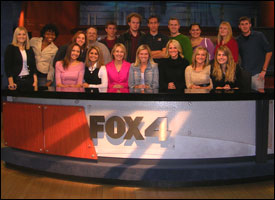 Students at FOX 4 News Desk