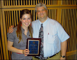 Senior Rebecca Norris and Associate Professor Paul Bolls
