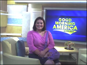 Melissa Chee on the set of Good Morning America