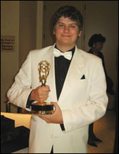 Thad Kemlage with Emmy