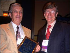 Keith Sanders and Charles Self, MA '71