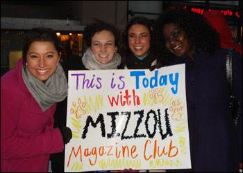 Missouri Magazine Club Students on NBC's Today Show
