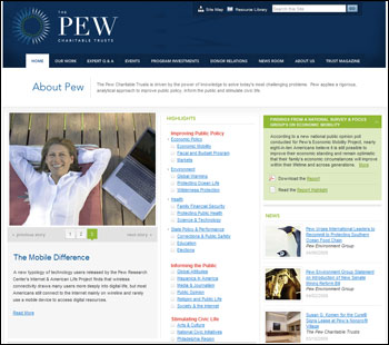 Pew Trusts Website