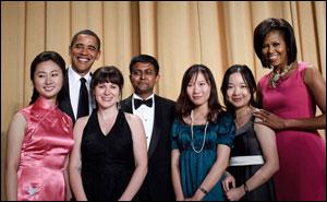 Missouri Journalism Students with President Obama