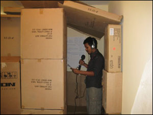 Makeshift Internews Recording Studio