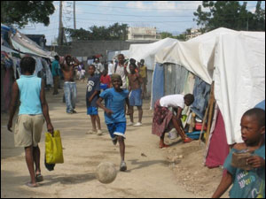 Displaced Persons Camp in Haiti