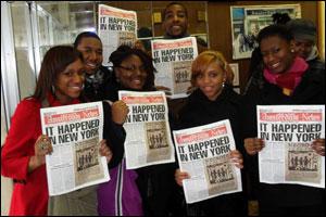 NABJ Students at Amsterdam News