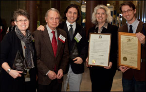 Rita Reed, Dr. Osmund Overby, Shane Epping, Maggie Walter and Alex Cooney