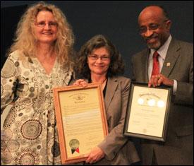 Monika Fischer, Pat Smith and Handy Williamson