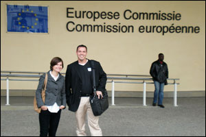 Rebecca Wolfson and Brian Jarvis at the European Union