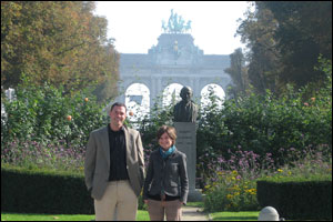 Brian Jarvis and Rebecca Wolfson in Leopold Park