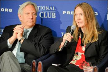 Dick Meyer and Janet Saidi