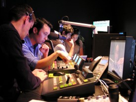 Students Working in the Control Room