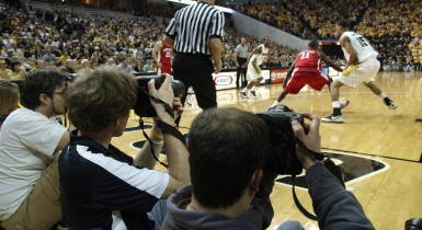 Students Photographing Mizzou Basketball