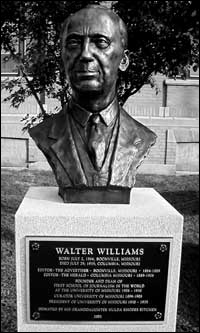 Walter Williams Bust