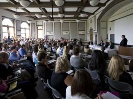 Class in Neff Hall Auditorium