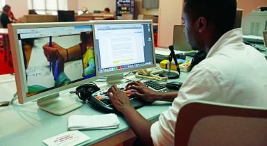 Student Working in RJI Futures Lab
