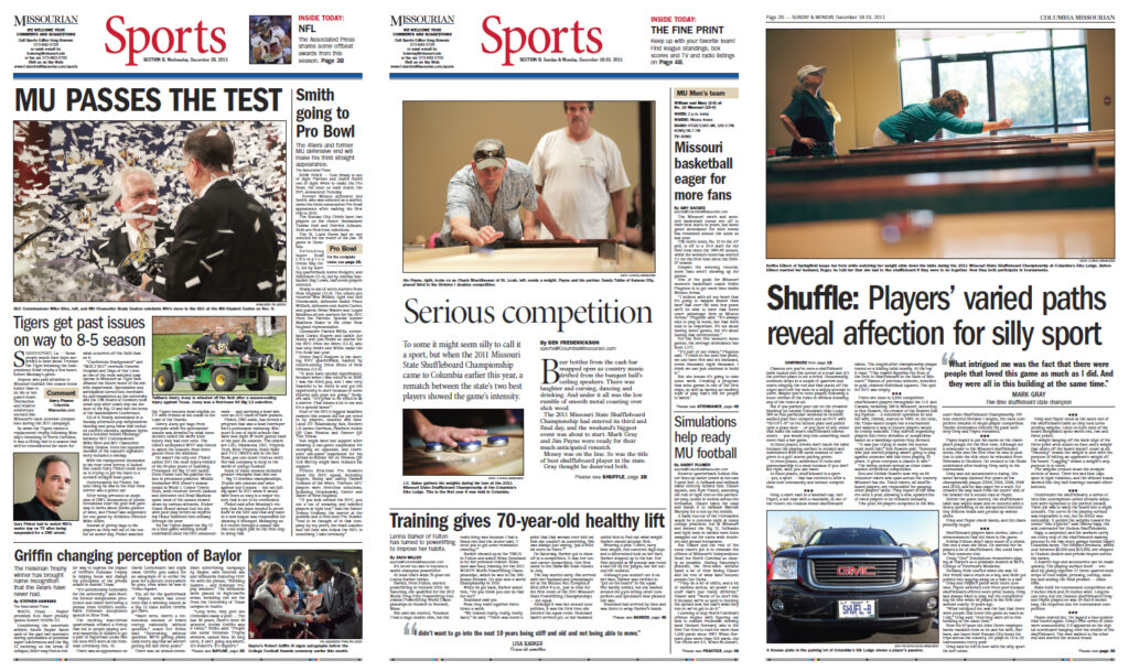 Columbia Missourian Winning APSE Front Pages