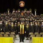 Brian Brooks with Spring 2012 Graduates