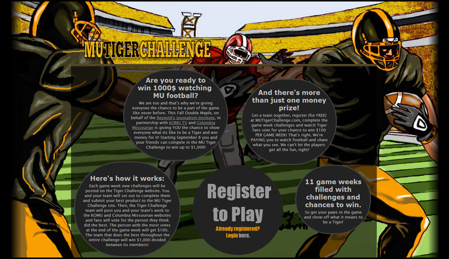 MU Tiger-Challenge Website