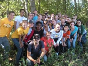 MOJO Ad Students on Hike at Big Muddy Refuge