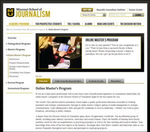 Missouri Journalism Online Master's Program