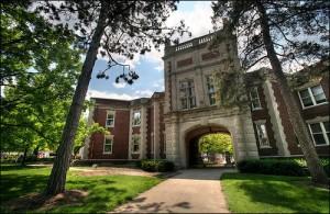 Archway of the Missouri School of Journalism