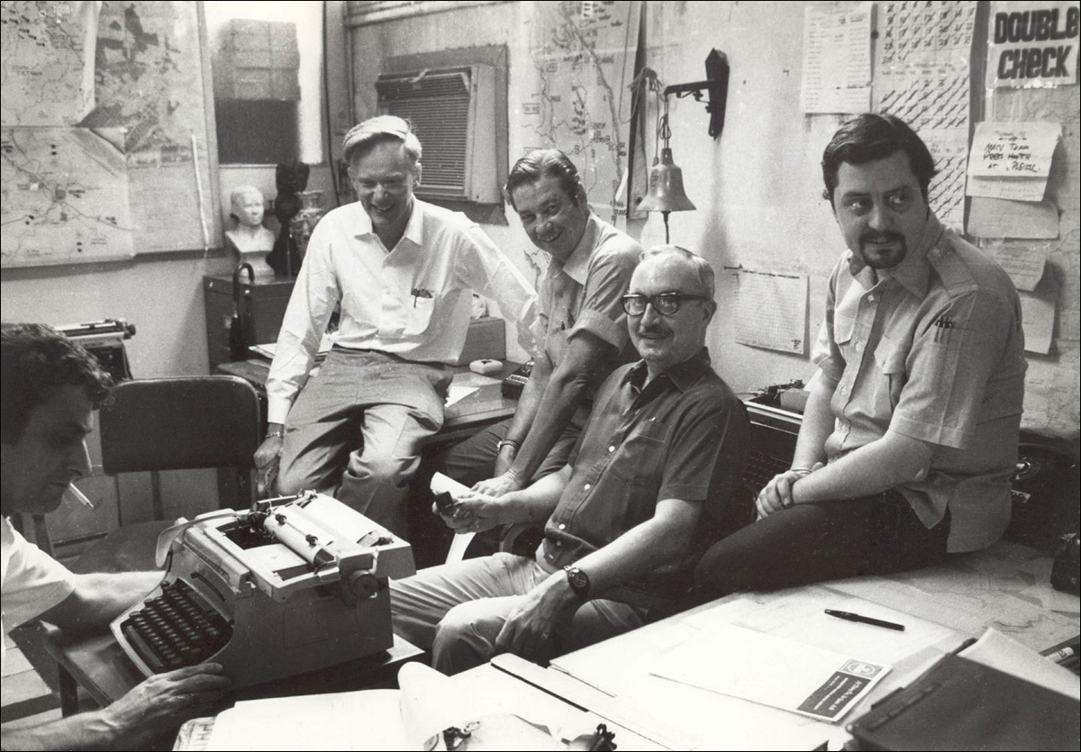 George Esper, Malcolm Browne, George McArthur, Edwin Q. White and Richard Pyle