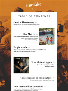 Vox Magazine Table of Contents