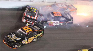 Travis Pastrana and Jason White Wreck