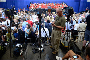Coverage of President's July 24 Visit to Warrensburg