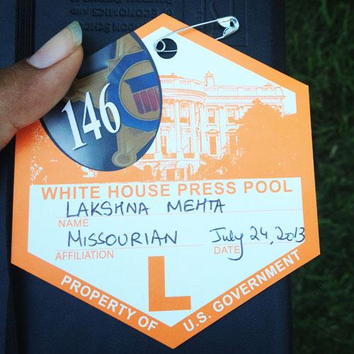 White House Press Pass