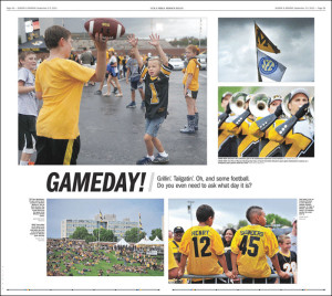 """Gameday!"" by Missourian staff."