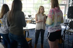 Jenn Schott with Missouri Students