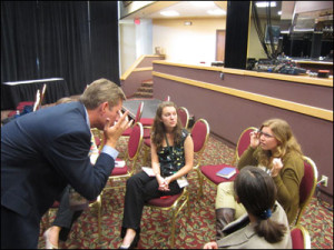 Bruce Rasa with Missouri Journalism Students
