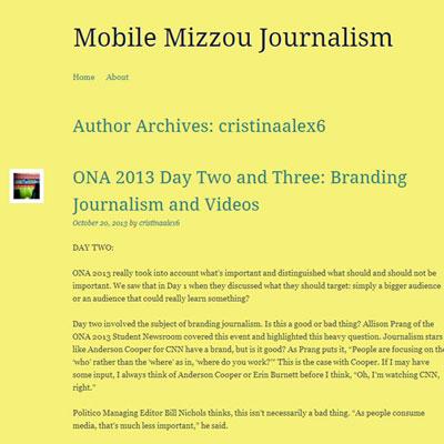 Mobile Mizzou Journalism Website
