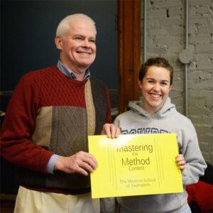 Dean Mills with Bridgit Bowden