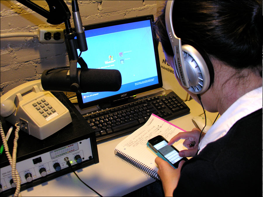 Student Working at KBIA-FM