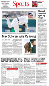 Page B-1 of the Columbia Missourian from Nov. 14, 2013