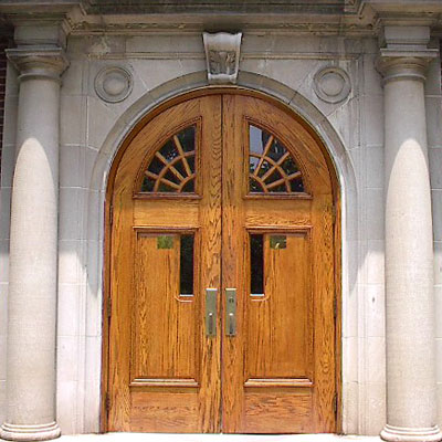 Doors to Neff Hall