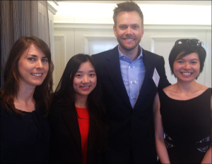 Anna Boiko-Weyrauch, Maoling Xiong, Joel McHale and Margaret Ng