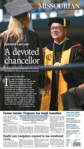 Columbia Missourian Front Page