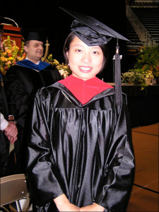 Xin Li at 2006 Commencement Ceremony