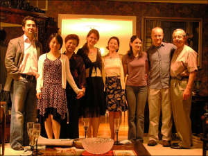 Xin Li at Stuart and Nina Loory's Home.