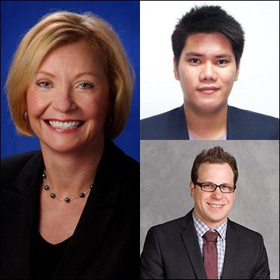 Margaret Duffy, Edson Tandoc and Patrick Ferrucci