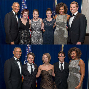 Missouri Journalism Students with President and Mrs. Obama